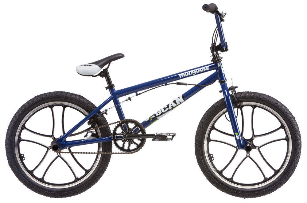 $114.99 20 in Mongoose Boy's BMX Freestyle Bike Scan R30, Blue