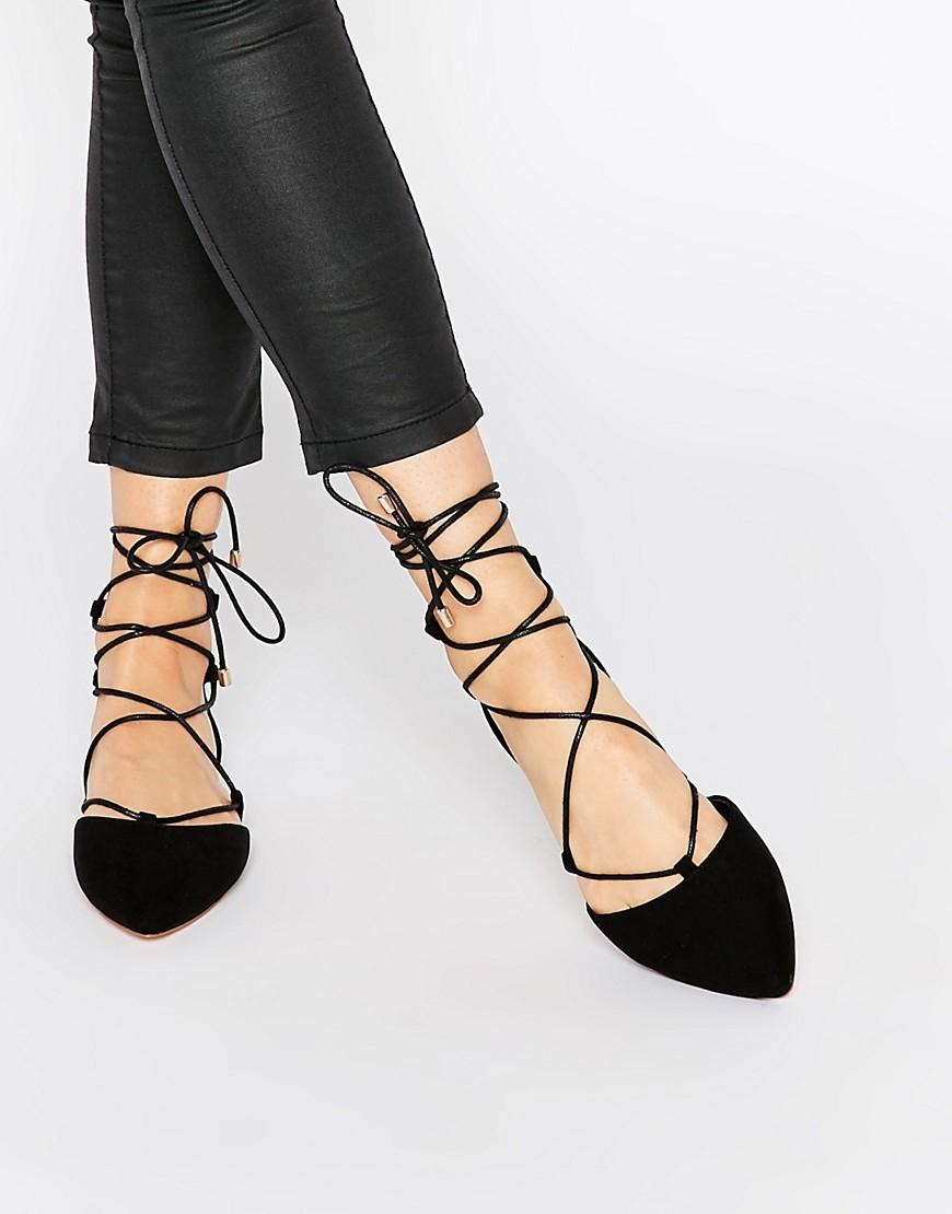$59.99 Calvin Klein Harlin Lace Pointed Toe Flat @ 6PM.com