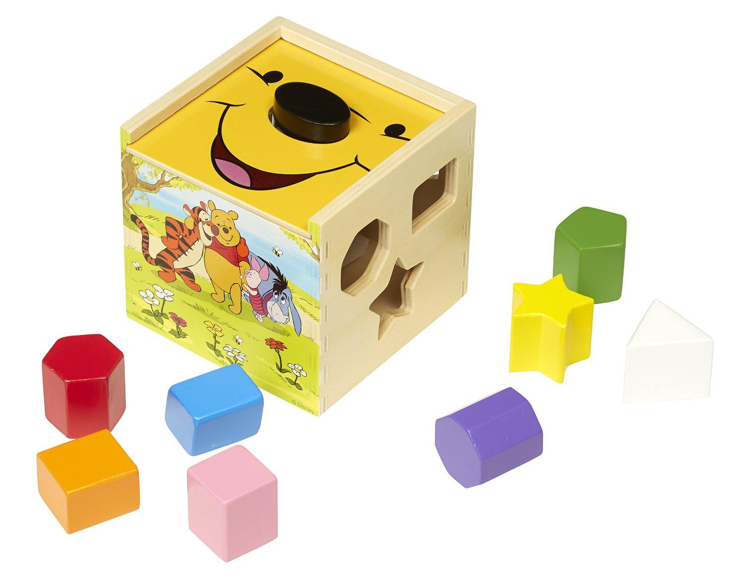 Disney Baby Winnie the Pooh Wooden Shape Sorting Cube