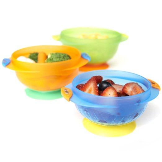 Munchkin Stay Put Suction Bowl, 3 Count @ Amazon