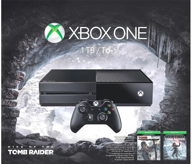 $349.99 Microsoft Xbox One 1TB Rise of the Tomb Raider Bundle w/ $50 Best Buy GC