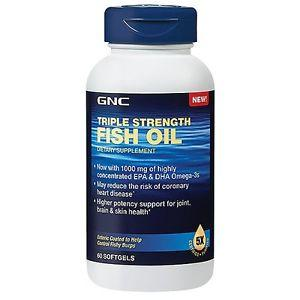 $9.00 GNC Triple Strength Fish Oil 60 softgels