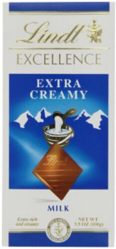 Lindt Excellence Extra Creamy Milk Chocolate 3.5-Ounce (Pack of 12)
