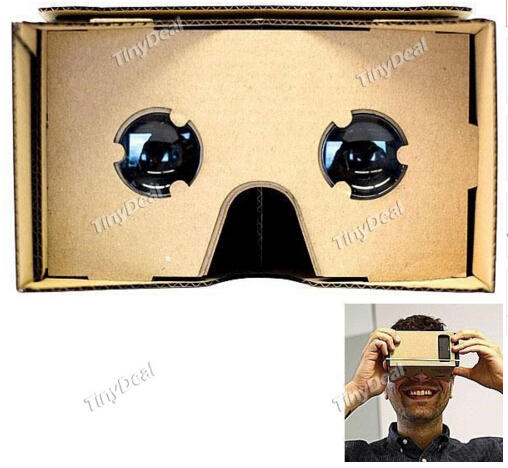 $2.59 Unassembled DIY Google Cardboard Smartphone Virtual Reality 3D Glasses