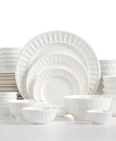 White Elements Paloma Embossed 42-Piece Set