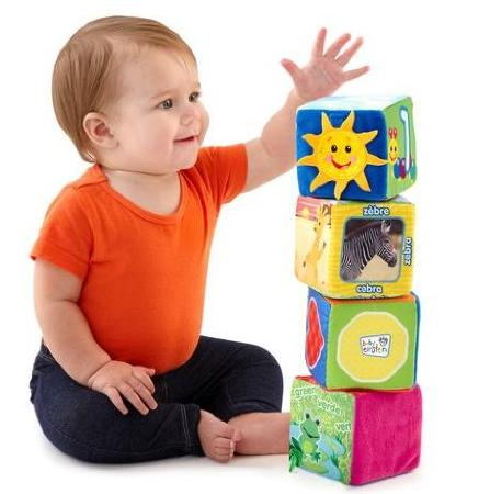 Baby Einstein Explore and Discover Soft Block Toys @ Amazon