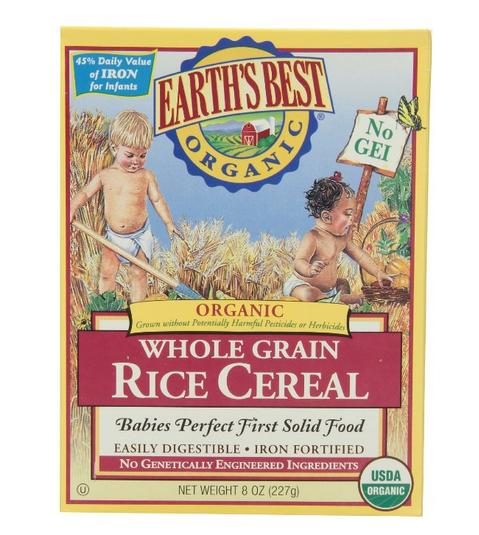 $27.74 Earth's Best Organic Whole Grain Rice Cereal, 8 Oz (Pack of 12)