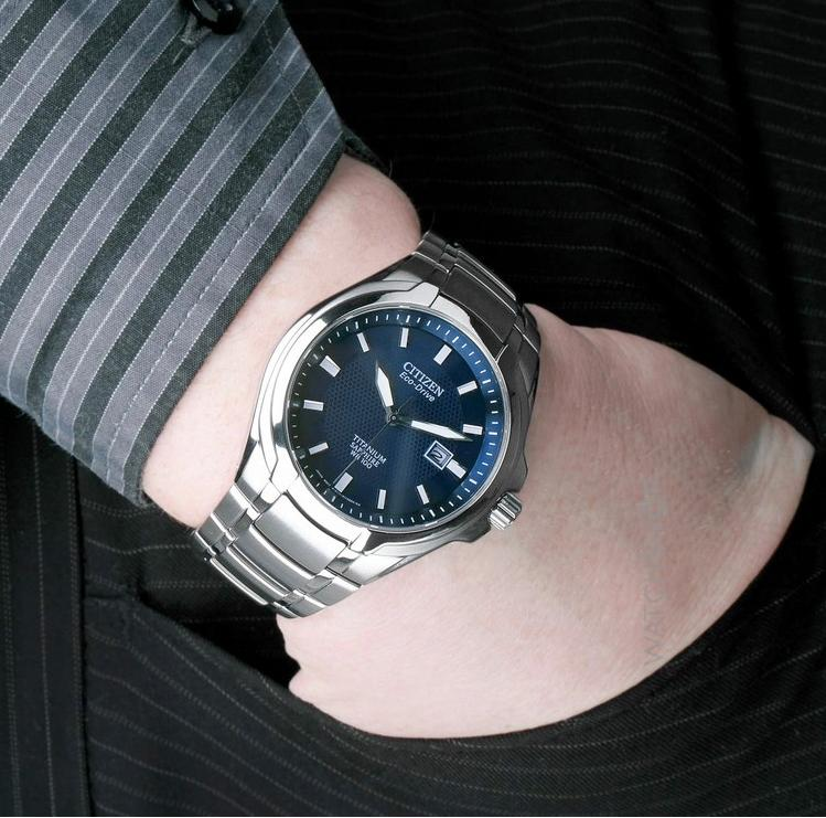 Citizen Eco-Drive Blue Dial Titanium Men's Watch BM7170-53L