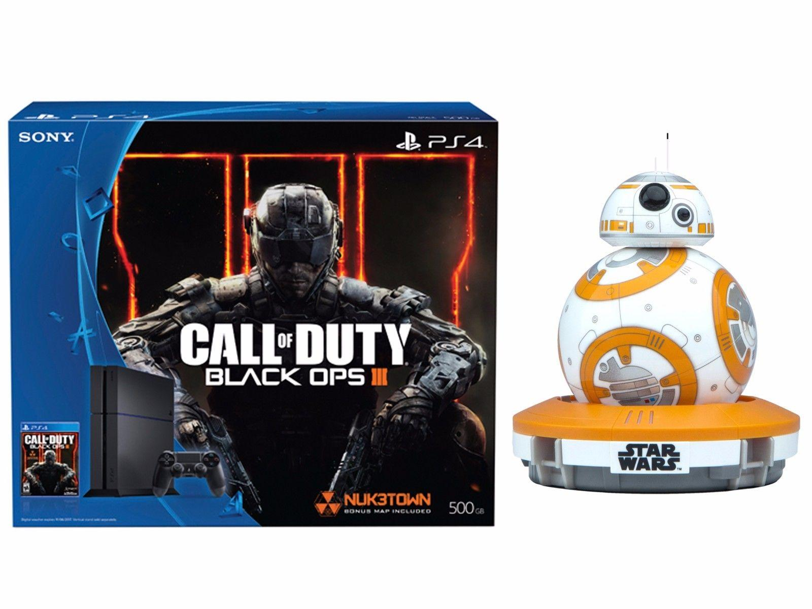 $409 PlayStation 4 Call of Duty Black Ops3 500GB Bundle+Sphero BB-8 App