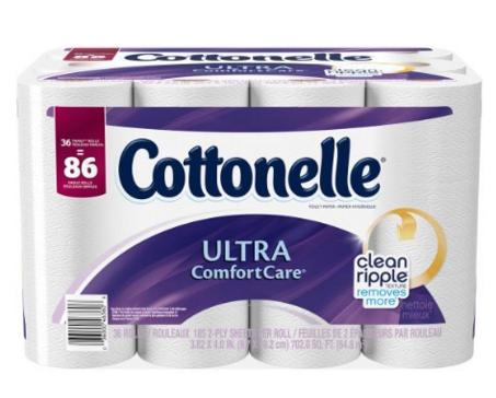 $15.58 Cottonelle Ultra ComfortCare Family Roll Toilet Paper Bath Tissue, 36 Rolls