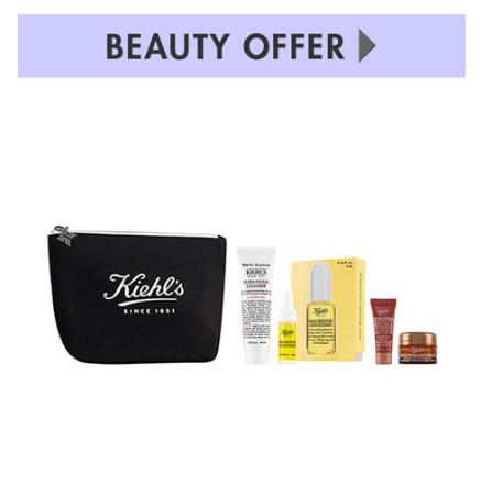 Receive 5-PC gifts with any $85 Kiehl's Since 1851 purchase @ Neiman Marcus