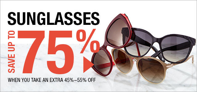 Up to 70% Off Designer Sunglasses Blowout in Fashion Dash
