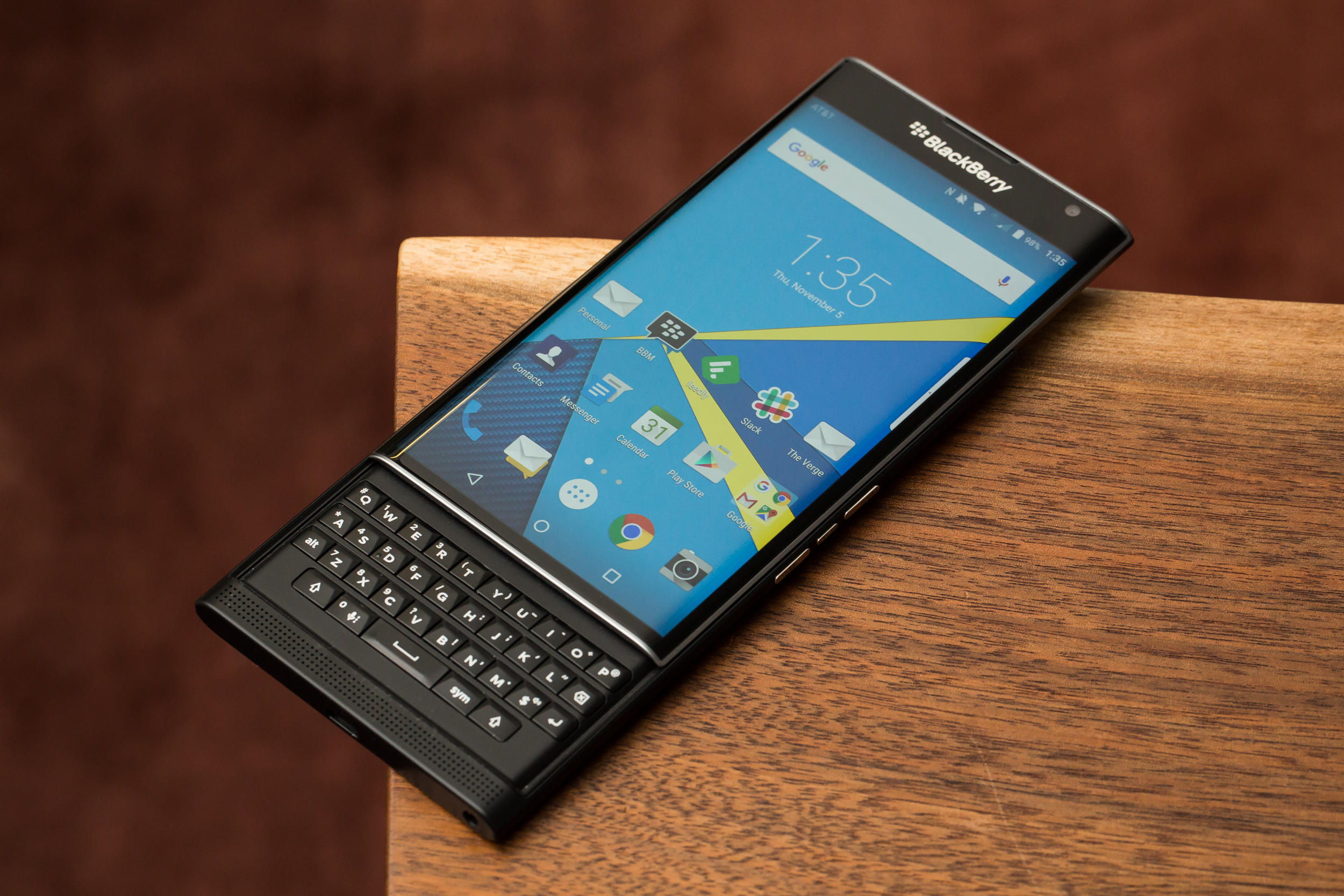 $269.99 Blackberry Priv AT&T Unlocked Smartphone - Black (U.S. Warranty)