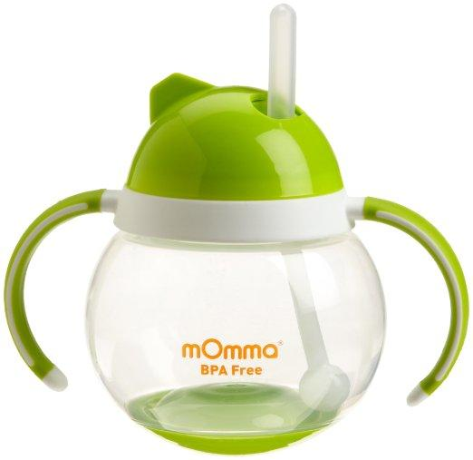 Lansinoh mOmma Straw Cup with Dual Handles, Green