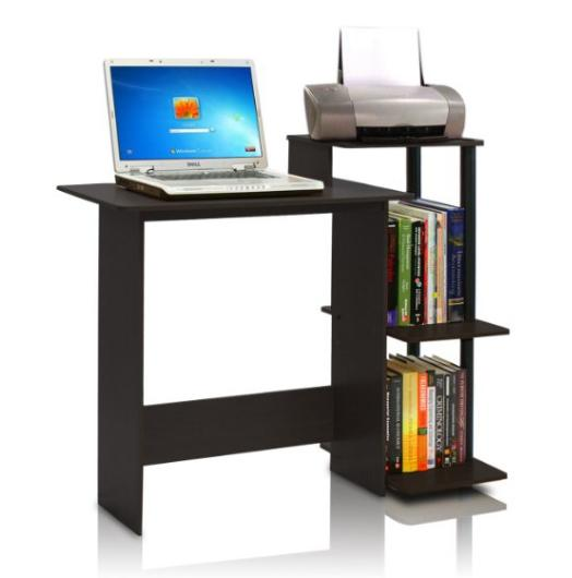 Lowest price! $24.97 Furinno Efficient Computer Desk, Espresso/Black