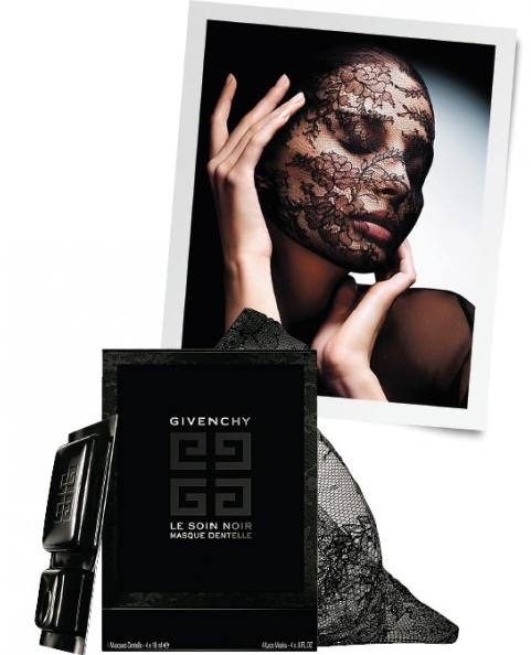 3 PC GWP+Free tote with fragrance samples with any  Le Soin Noir Lace Face Mask purchase @ Neiman Marcus