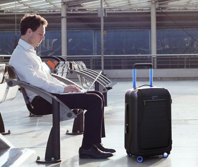 Bluesmart Smart Carry-On Suitcase, Connects to Your Smartphone on iOS/Android