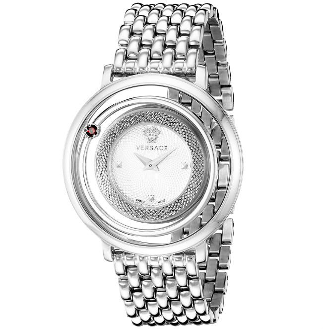Lowest price! $509.99 Today only! Versace Women's Venus Stainless Steel and Topaz Watch