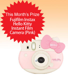 Subscribe to Dealmoon Newsletter, Win the Fujifilm Instax Hello Kitty Instant Film Camera (Pink)