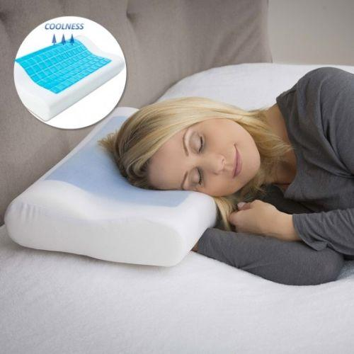 Modernhome Ergonomic Memory Foam Pillow with Cooling Gel & Cover