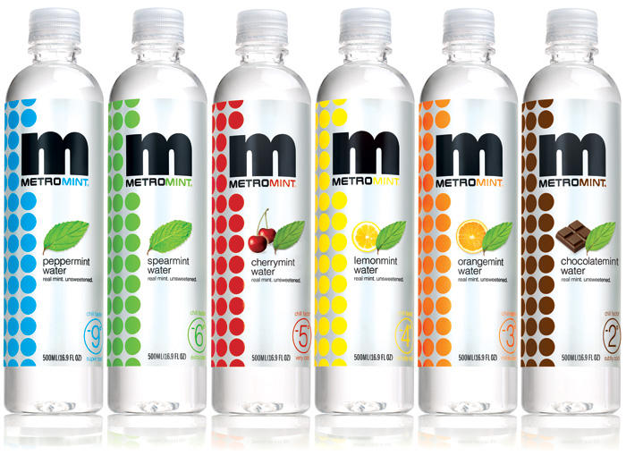 Metromint Water 16.9-Ounce Bottles (Pack of 12)