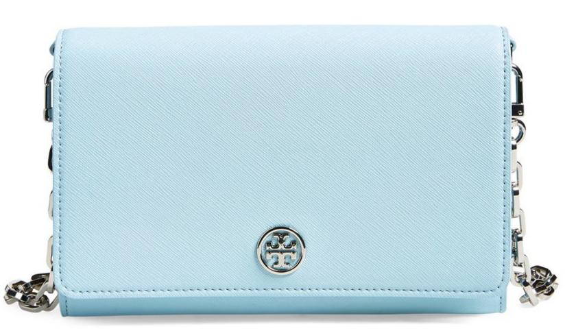 $197.65 Tory Burch 'Robinson' Leather Wallet on a Chain On Sale @ Nordstrom