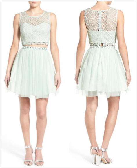 $52.8 Sequin Hearts Crochet Lace Two-Piece Party Dress On Sale @ Nordstrom