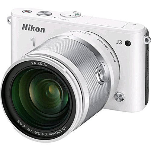 Nikon 1 J3 14.2MP Digital Camera with 10-100mm VR Lens (Factory Refurbished)