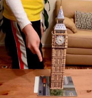 $15.56 Ravensburger Big Ben 216 Piece 3D Building Set
