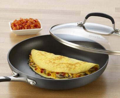 $23.99 Simply Calphalon Nonstick 10-Inch Covered Omelette Pan