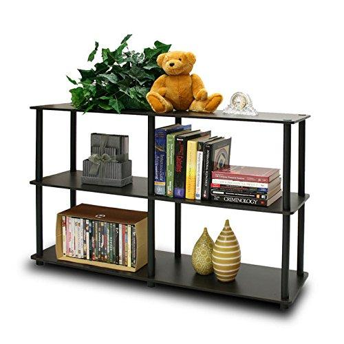 Furinno 99130EX/BK Turn-N-Tube 3-Tier Double Size Storage Display Rack