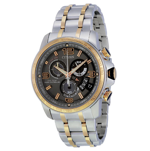 Lowest price! $352.99 Citizen Eco-Drive Men's Chrono-Time A-T Analog Display Two Tone Watch