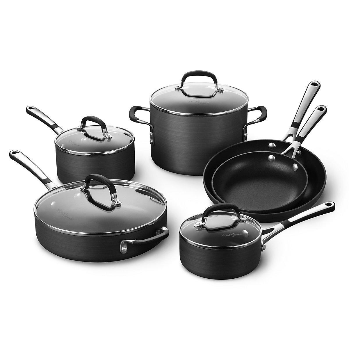 Calphalon Simply Nonstick Cookware, 10 Piece Set