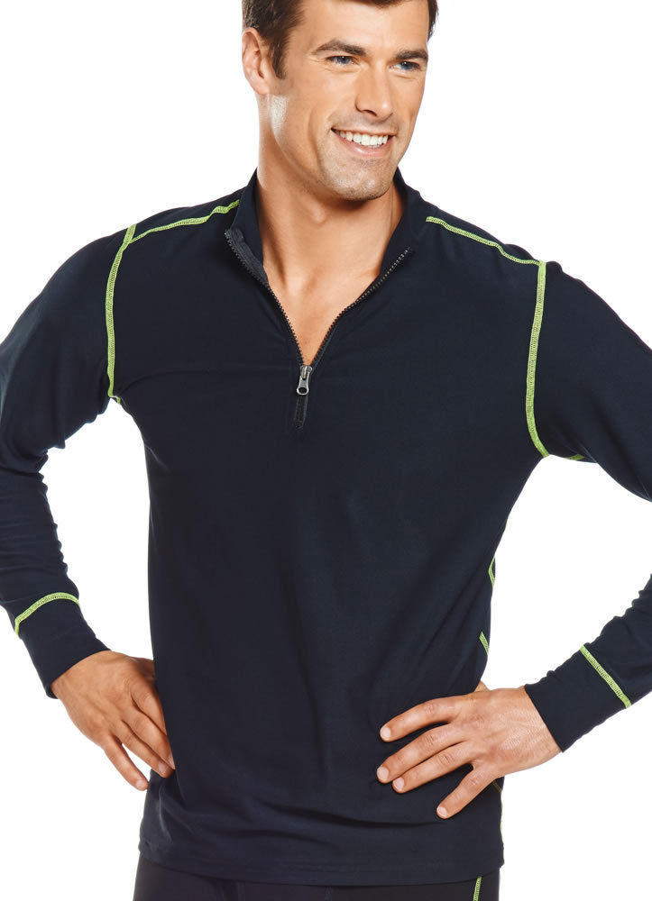 Jockey Mens Performance Stretch Zip Mock