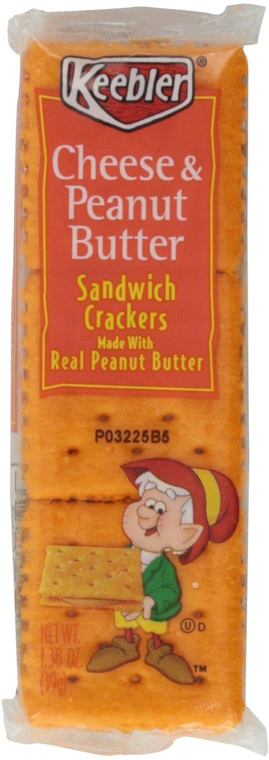Keebler Sandwich Crackers, Cheese & Peanut Butter (Pack of 6)