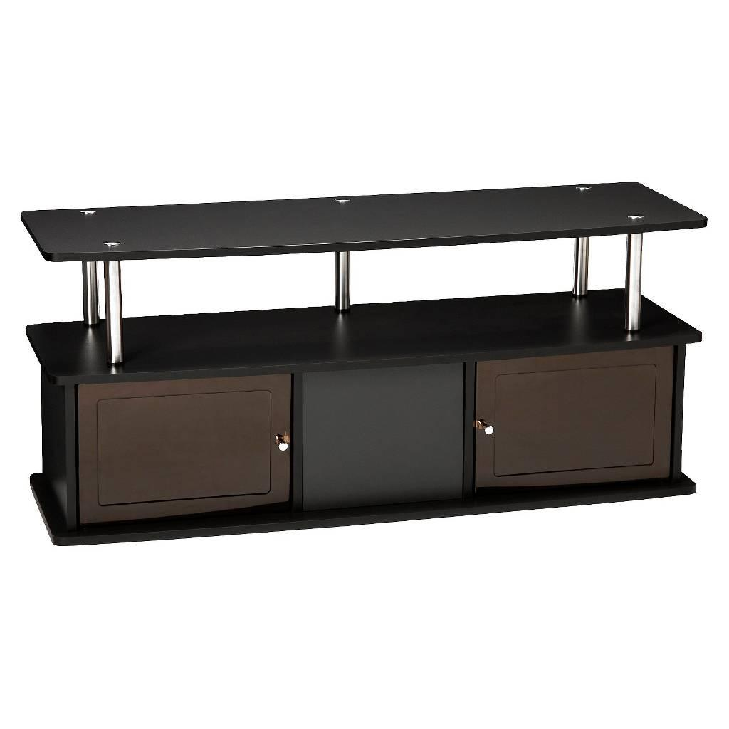 """TV Stand with 3 Cabinets Black 47"""""""
