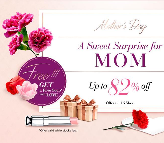 Up to 82% Off A Sweet Surprise for Mom @ Sasa.com