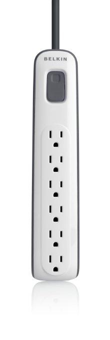 Belkin 6-Outlet Surge Protector with 2.5-Feet Power Cord