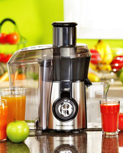 Lowest price! $40.99 Hamilton Beach Juice Extractor, Big Mouth, Metallic