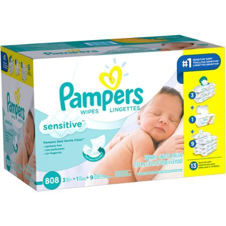$19.98 Pampers Sensitive Baby Wipes Multipack, 808 sheets
