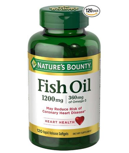 $5.43 Nature's Bounty Fish Oil 1200 Omega-3 & Omega-6, 120 Softgels
