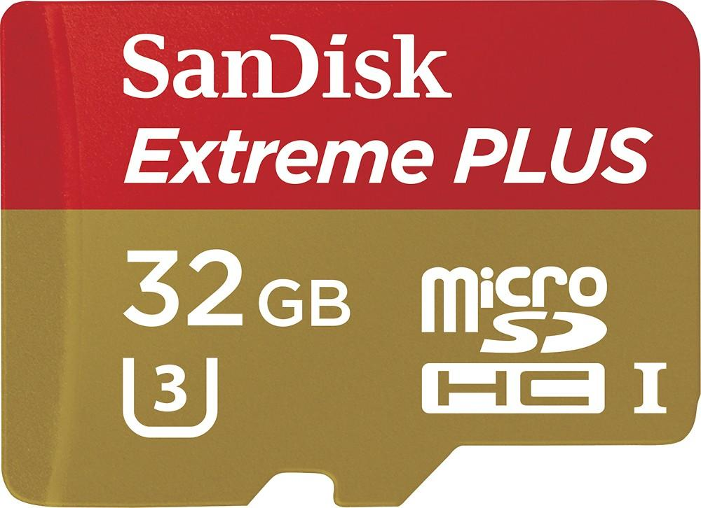 As low as $15.99 SanDisk Extreme PLUS microSDHC U3 Memory Card