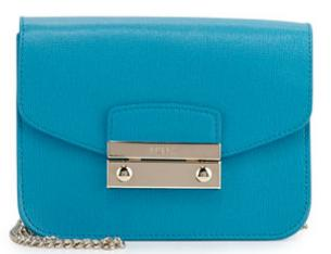 Furla Julia Mini Leather Crossbody Bag, Turchese