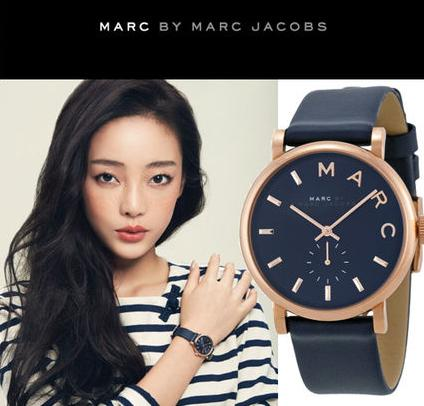 $94.99 Marc by Marc Jacobs Baker Navy Leather Ladies Watch MBM1329