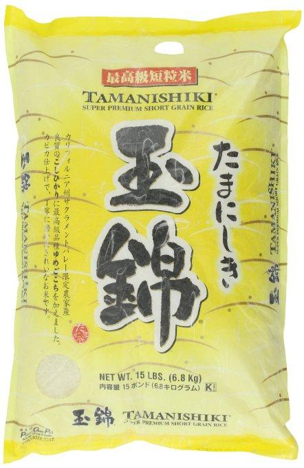 Tamanishiki Super Premium Short Grain Rice, 15-Pound