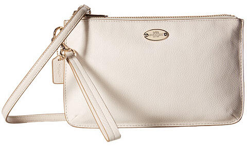 COACH Pebbled Leather Lyla Double Gusset Crossbody