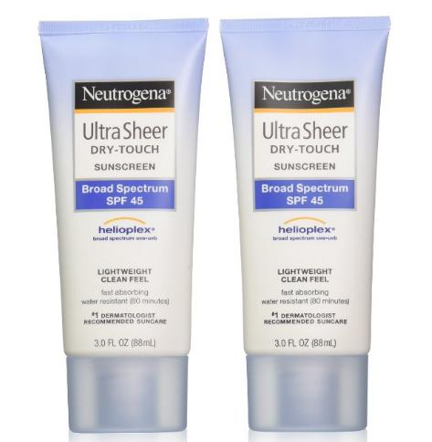 $10.19 Neutrogena Ultra Sheer Drytouch Sunscreen, SPF 45, 3 Ounce (Pack of 2)
