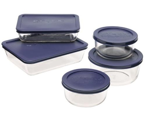 Pyrex Simply Store 10-Piece Glass Food Storage Set @ Amazon