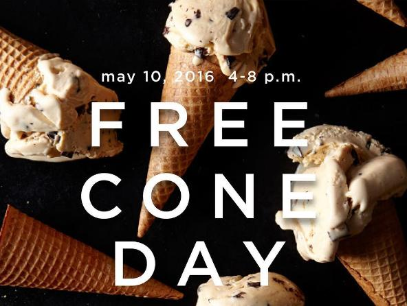 Free Cone Day @ Haagen-Dazs on May 10, 2016