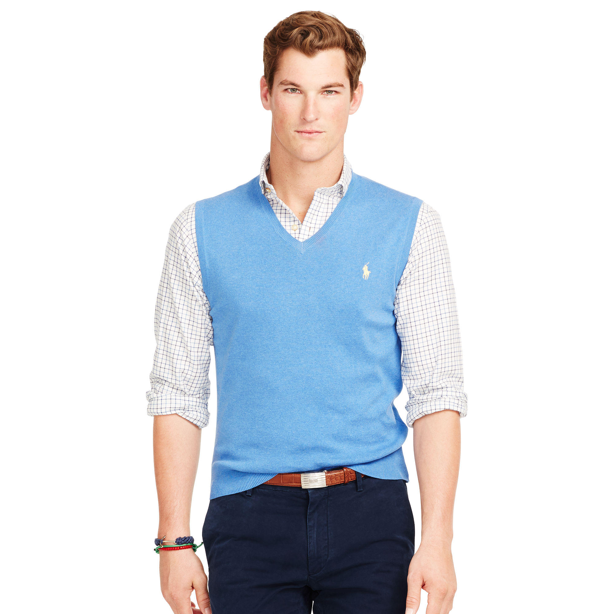 Ralph Lauren PIMA COTTON V-NECK VEST